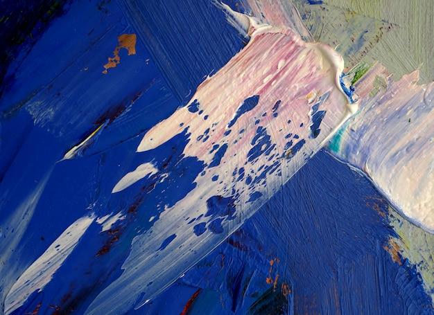 キャンバスの抽象的な背景の油絵筆