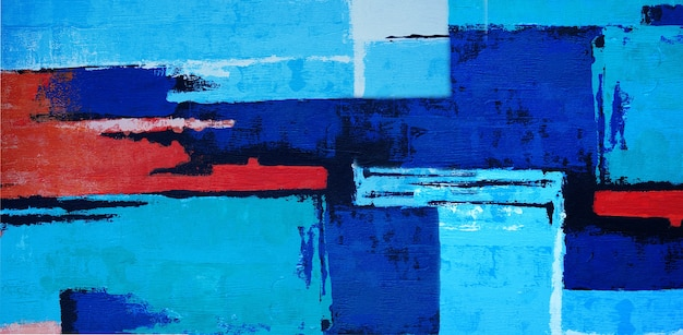 Oil painting on canvas abstract with texture panorama.