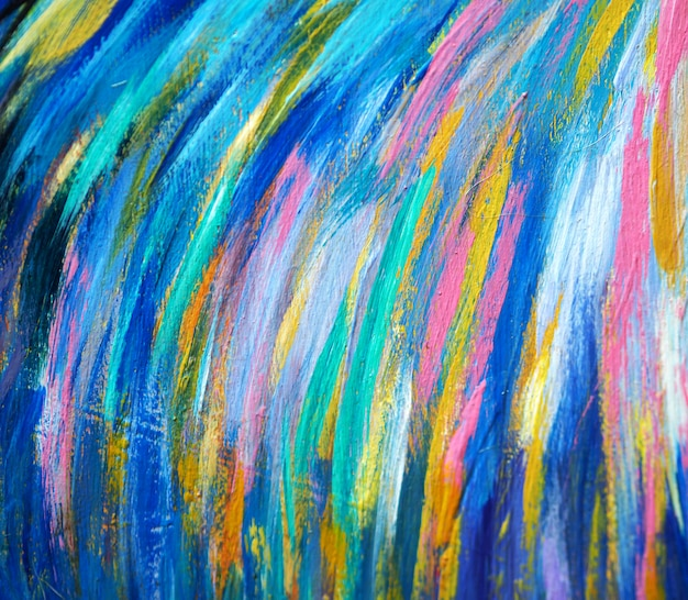 Oil painting colorful brush stroke abstract and texture.