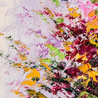 キャンバスに油絵現代アートワークの抽象芸術の背景の断片ペイントのブラシストローク