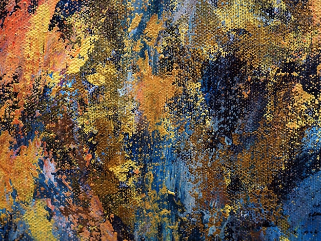 テクスチャとキャンバスの抽象的な背景の油絵。