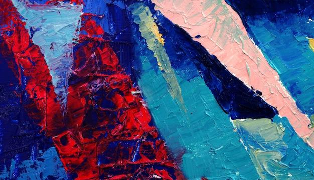 キャンバスの抽象的な背景に油絵。