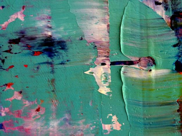 キャンバスのテクスチャの抽象的な背景の油絵