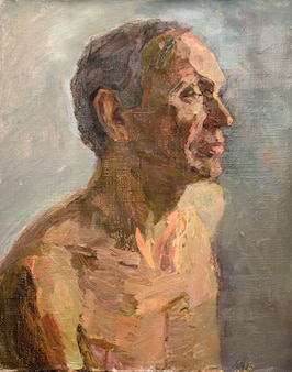 Oil painting, portrait, handmade drawing
