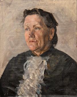 油絵、肖像画、手作りのデッサン