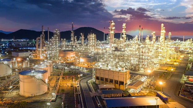 Oil petrochemical refinery plant