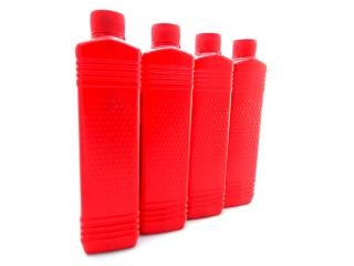 Oil plastic bottles, lubrication