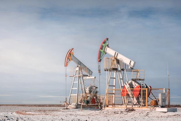 Oil pump jack. crude oil.