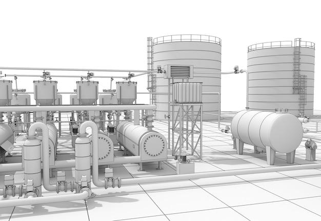 石油精製、化学生産