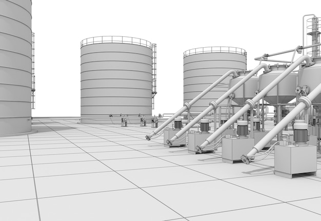 Oil refinery, chemical production