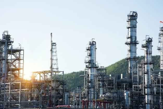 Oil refinery plant.