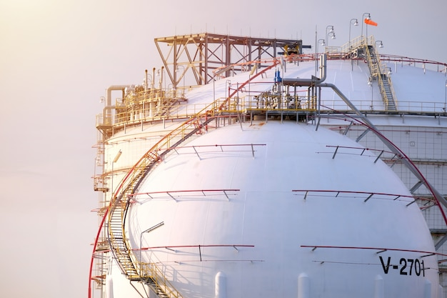 Oil tank in the harbor in thailand