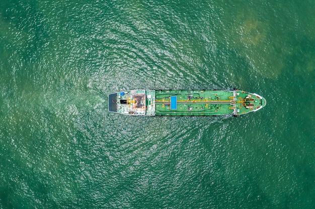 Oil tanker or gas tanker in open sea