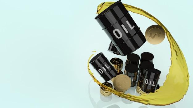 Нефтяные баки и золотые монеты на содержание нефти
