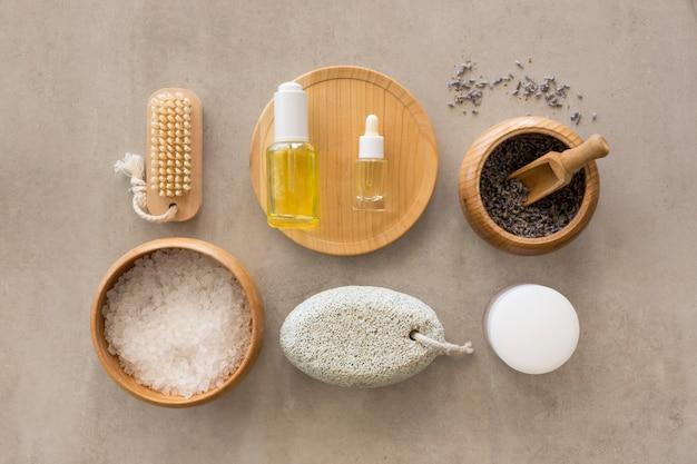 オイルと石鹸の美しさと健康スパのコンセプト