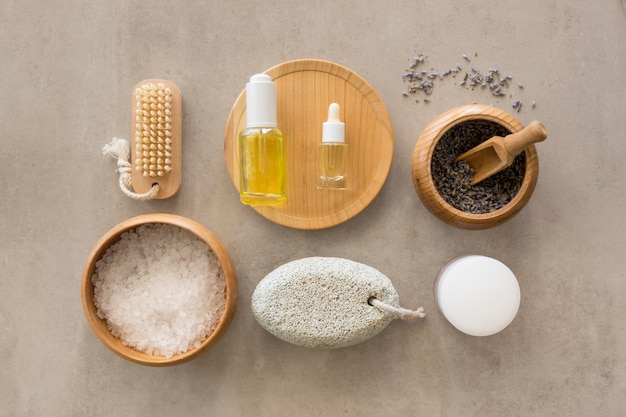 Oils and soap beauty and health spa concept