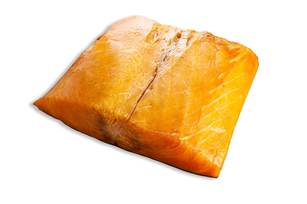 Oily fish fillet, isolated. white background.