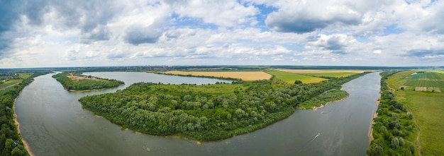 Oka river panorama
