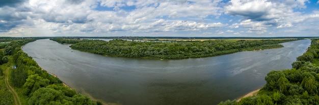 Oka river panorama