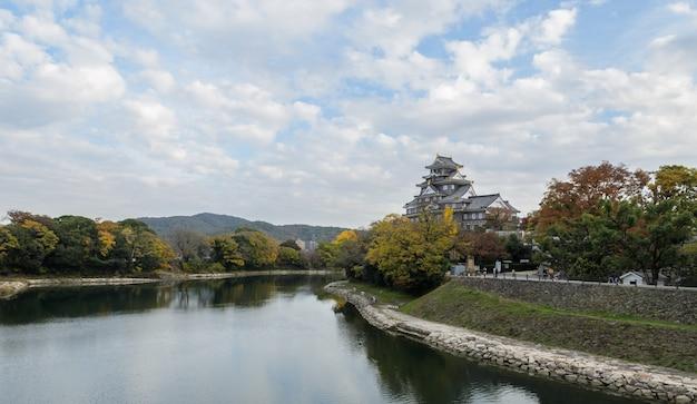 Okayama castle in autumn season, okayama, japan