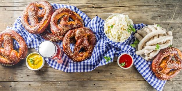 Oktoberfest food and beer