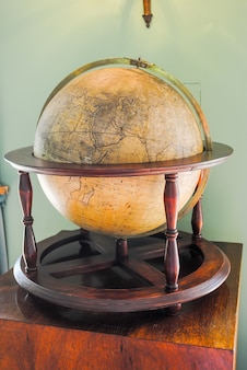 Old and aged earth globe