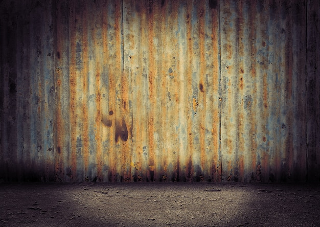 Old and aged vintage metal background