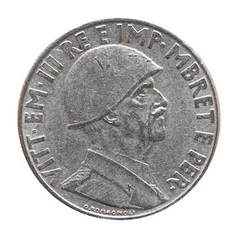 白で隔離されたヴィットリオエマヌエーレ3世王と古いアルバニアのレク