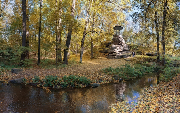 Old alcove in sofiyivka park in uman, ukraine