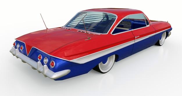 좋은 상태의 오래된 미국 차. 3d 렌더링.