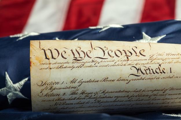 アメリカの国旗に関する古いアメリカの文書