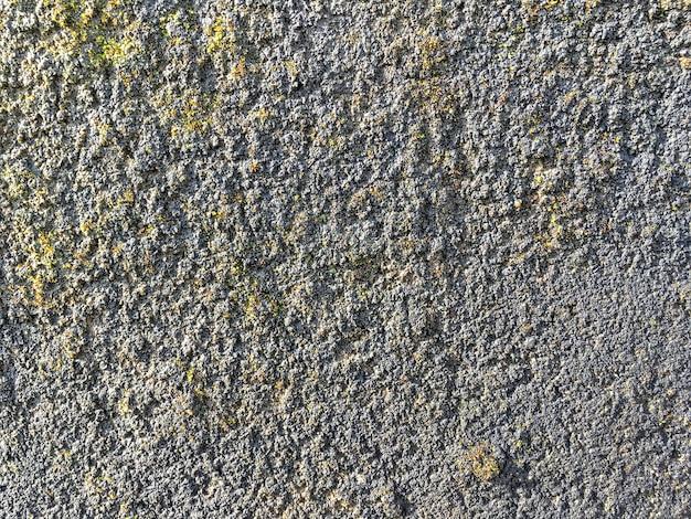 Старая древняя серая каменная стена, поросшая мхом