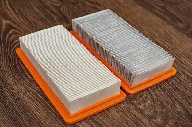 Старые и новые фильтры для пылесоса.