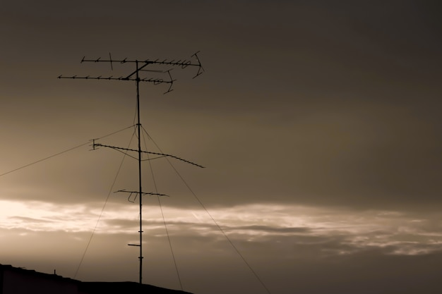 An old antena on the roof