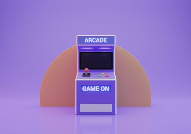 Старый аркадный автомат 3d-рендеринга