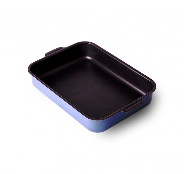 Old baking tray covered with a lid