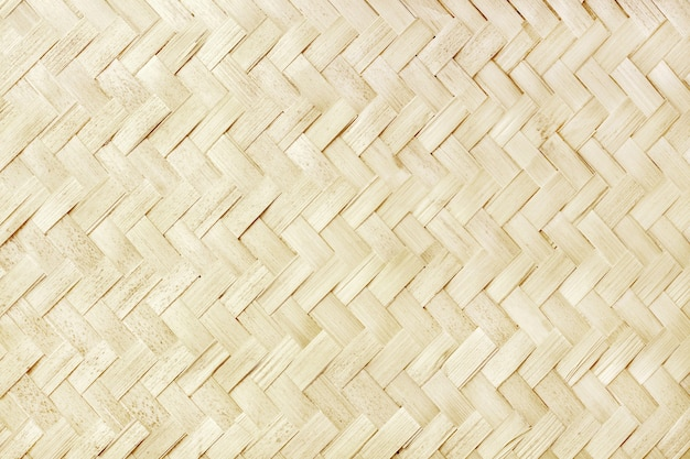 Old bamboo weaving design, woven rattan mat texture for background