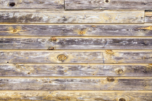 Old barely painted wooden wall, rural house