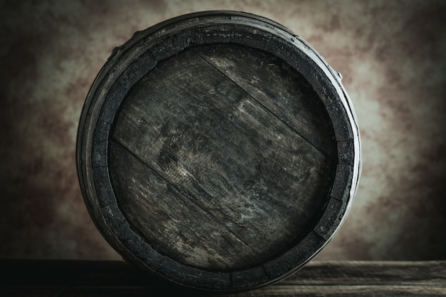 Old barrel - desaturated style image