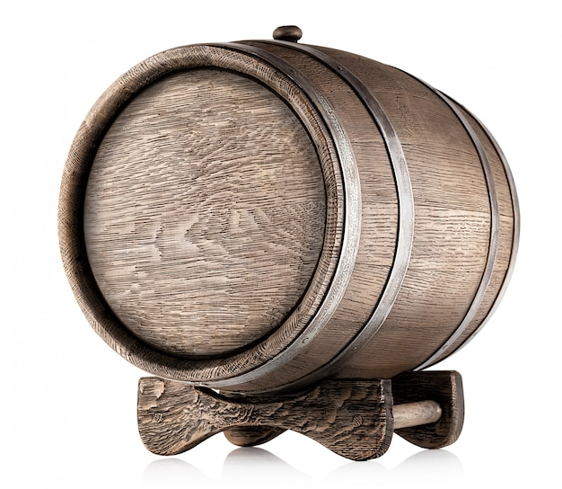 Old barrel on stand