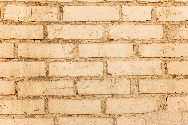 Old beige brick wall. close-up. spaces and textures. space for text.
