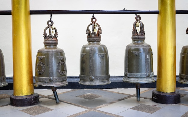 Old bell in temple chiangmai, thailand