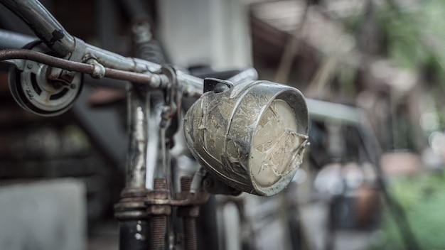 Old bicycle headlamp light