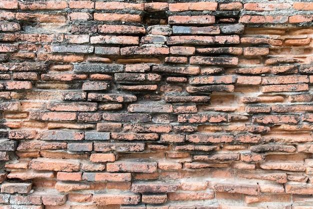 古い黒と赤のレンガの壁のテクスチャグランジ背景。ビンテージ