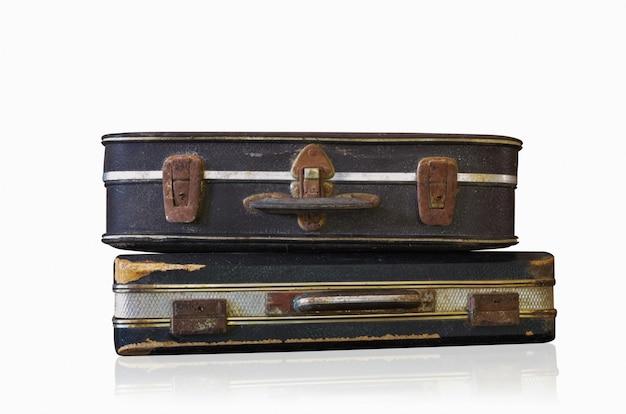 Old black brief case