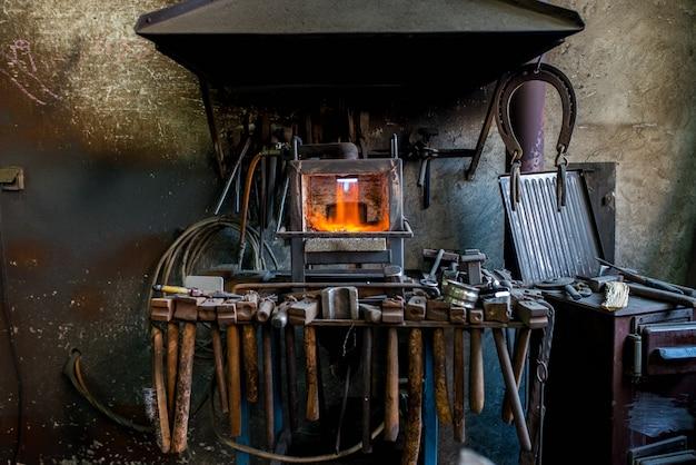 Old blacksmiths workshop.