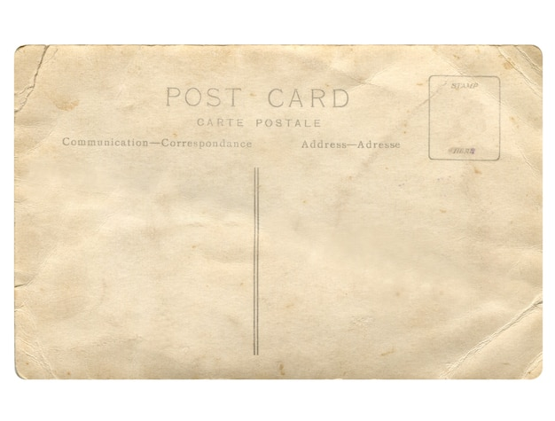 오래 된 빈 엽서