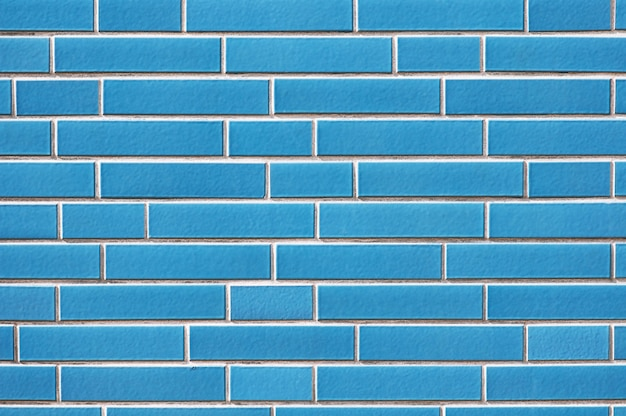 Old blue brick wall texture background