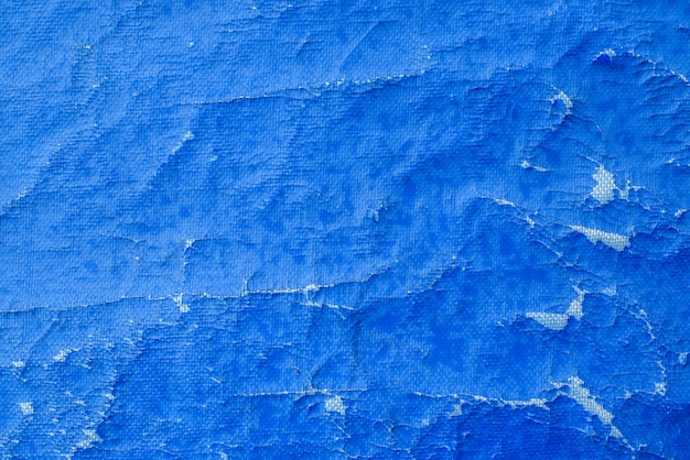 오래 된 파란색 캔버스. 조직. 배경.