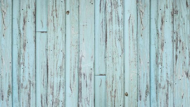 古い青緑色の木の板のテクスチャ背景